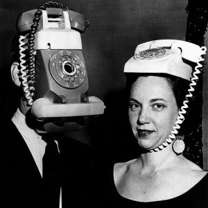 Phones on heads